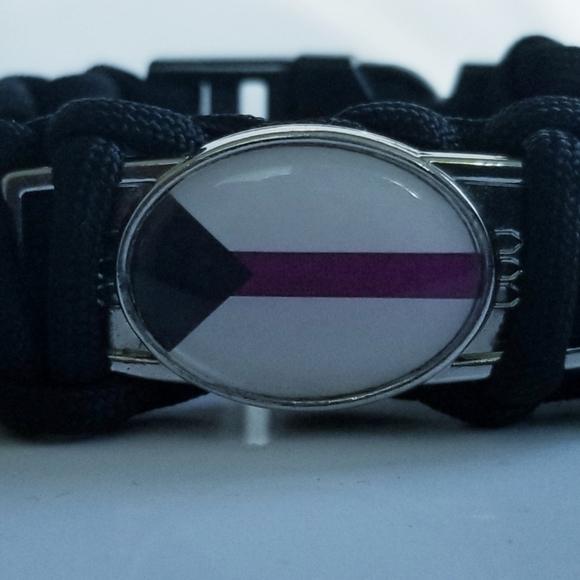 Demisexual Pride Flag Charm Bracelet Wristband